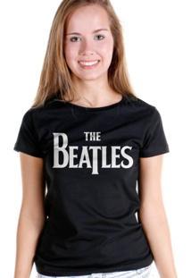 Camiseta Bandup Bandas The Beatles Classic Logo Preto