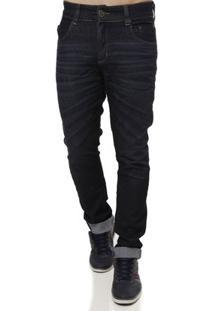 Calça Jeans Prs Masculina - Masculino-Marinho