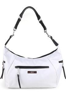 Bolsa Santa Lolla Tote Shopper Nylon Feminina - Feminino-Branco