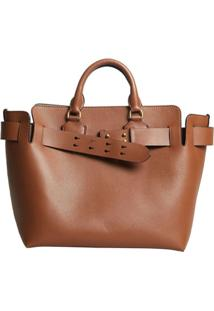 Burberry Bolsa The Medium Com Cinto - Marrom