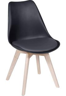 Cadeira Modesti- Preta & Bege Claro- 83X49X42,5Cm