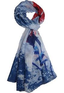 Lenço Zohar Acessórios Vivienne Colorida Azul