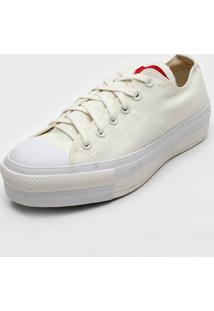Tênis Flatform Converse Chuck Taylor All Star Lift Off-White