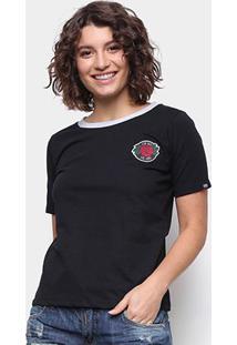 Camiseta Ecko Rose Feminina - Feminino-Preto