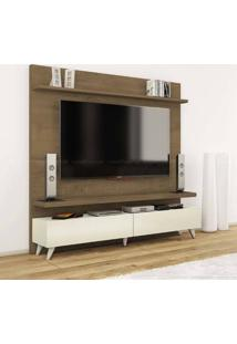 Estante Home Theater 2 Gavetas Para Tv Até 60 Polegadas Boss 180 X 182 X 40 Madeira Touch/Off White - Imcal