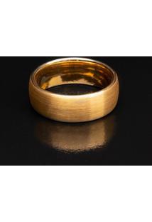 Anel Tungstênio Plain - Gold - Kanui