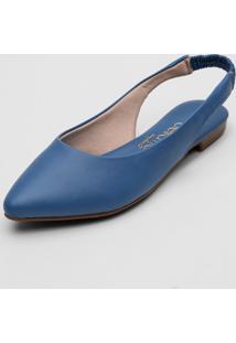 Sapatilha Beira Rio Slingback Azul