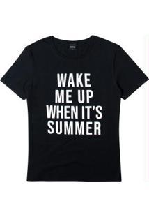 Blusa Preta Ampla Wake Me Up