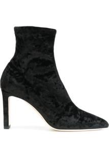 Jimmy Choo Ankle Boot De Veludo - Preto