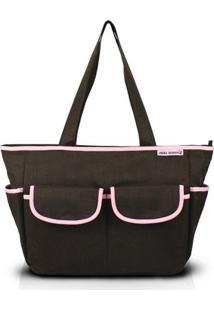 Bolsa De Lisa - Jacki Design - Feminino-Marrom+Rosa