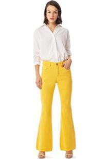 Calça Iódice Flare Cós Intermediário Color Feminina - Feminino