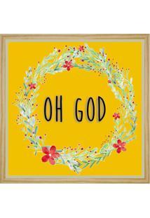 Quadro Decorativo Robbins L Amarelo E Floral