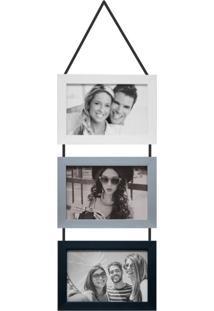 Porta-Retrato 10X15 Simple Branco E Prata