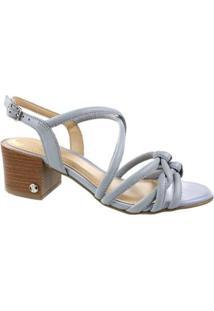 Sandália Salto Baixo Bottero Phoebe Feminina - Feminino-Cinza