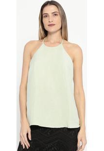 Blusa Lisa Em Linho- Verde Claro- Colccicolcci