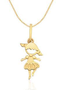 Pingente Bailarina Ouro Amarelo