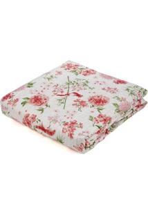 Kit De Colcha Com Porta Travesseiros Solteiro Andrezza Rosa