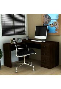 Mesa Para Computador Com 3 Gavetas Me4101 - Tecno Mobili - Tabaco