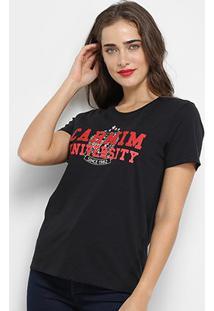 Camiseta Carmin University Feminina - Feminino-Preto