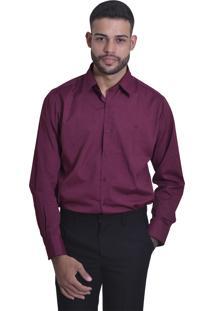 Camisa Unyforme Slim Relevo Roxa