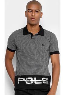 Camisa Polo Rg 518 Piquet Listrada Foil Masculina - Masculino