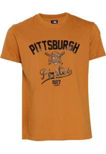 Camiseta New Era Pittsburgh Pirates Mlb Caramelo