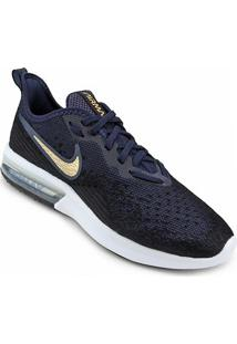 Tênis Nike Air Max Sequent 4 Feminino - Feminino-Preto+Azul