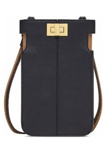 Fendi Carteira Peek-A-Phone - Preto