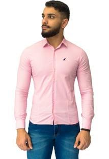 Camisa Social Super Slim Com Elastano 2002 - Masculino