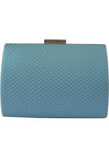 Bolsa Clutch Feminina Para Festa Kate Azul Tiffany