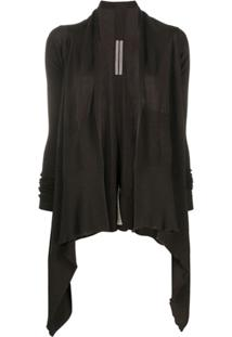 Rick Owens Knitted Open-Front Cardigan - Marrom