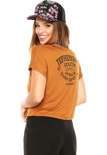 Camiseta Sommer Estampada Caramelo