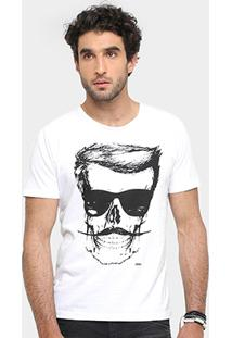 Camiseta Sergio K Skull Bigode Masculina - Masculino