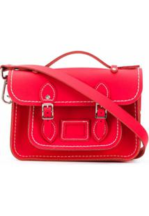 Comme Des Garçons Girl Small Satchel Shoulder Bag - Vermelho
