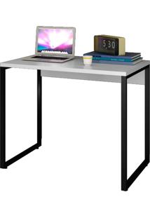 """Escrivaninha Mesa De Escritã³Rio Studio Industrial 90 M18 Branco €"""" Mpozenato - Branco - Dafiti"""