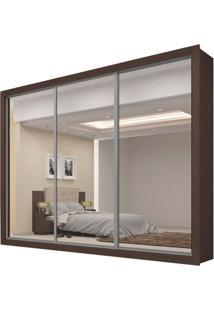 Guarda-Roupa Persia New Com Espelho - 3 Portas - 100% Mdf - Malbec