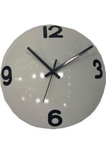 Relógio De Parede Decorativo Espelhado Cor Branco 28X28X10Cm - Tricae