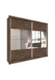 Guarda-Roupa Casal Com Espelho Flórida 2 Pt 6 Gv Cumaru Rustic