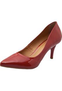 Scarpin Dafiti Shoes Verniz Baixo Laranja