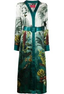 F.R.S For Restless Sleepers Vestido Com Estampa Botânica - Verde