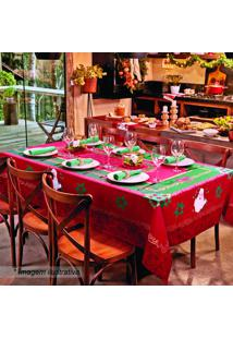 Toalha De Mesa Estampada Natal- Vermelha & Verde- 25Lepper