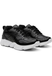 Tênis Chunky Sneaker Casual Feminino - Feminino-Preto