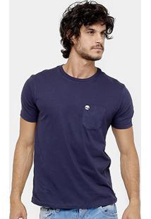 Camiseta Timberland Ss Dunstan Rvr Pocket Masculina - Masculino