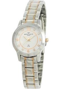 Relógio Feminino Backer Analógico 10262113F - Unissex-Prata