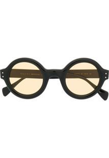 Gucci Eyewear Óculos De Sol Redondo Oversized - Preto