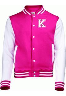 Jaqueta College4Ever Letra K Bordada Pink