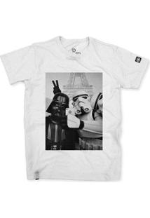 Camiseta Stoned Star Wars Selfie Masculina - Masculino-Branco
