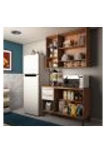 Cozinha Compacta Napoli Prime 6 Pt 2 Gv Castanho E Branca