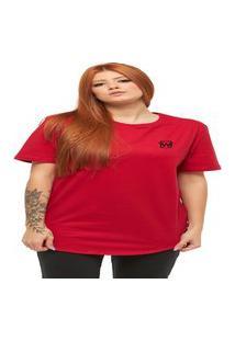 Camiseta Longline Feminino Manga Curta Wooks C1Wf-Vermelho-Gg