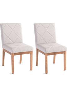 Conjunto Com 2 Cadeiras De Jantar Losan Cinza E Castanho
